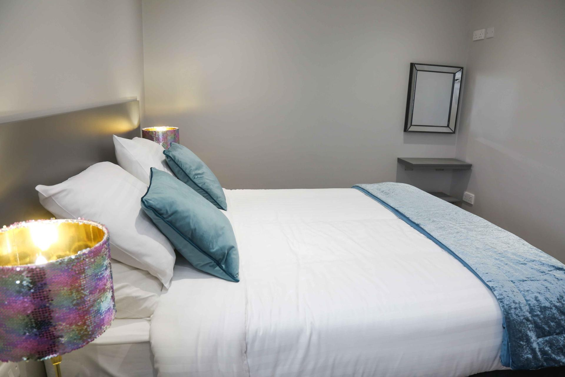 Double bedroom at Eglantine Apartments - Citybase Apartments