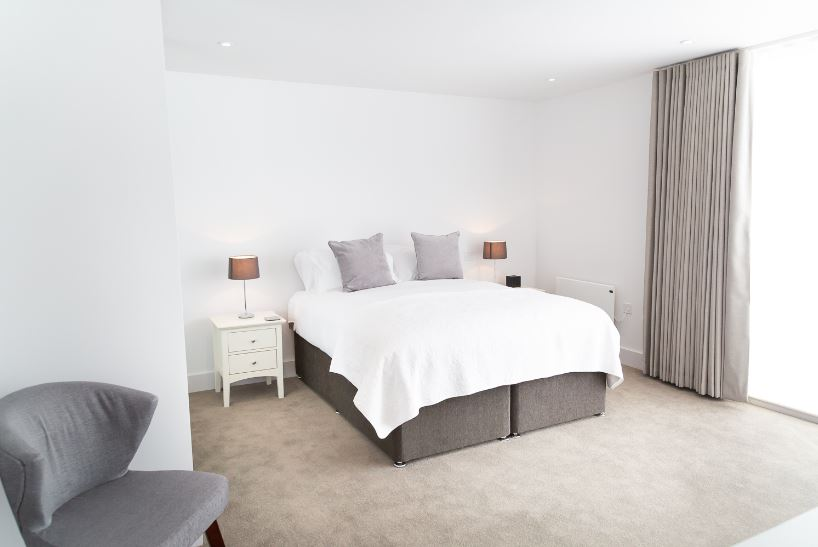 Bright bedroom at Park House duplex Apartments, King's Hedges, Cambridge - Citybase Apartments