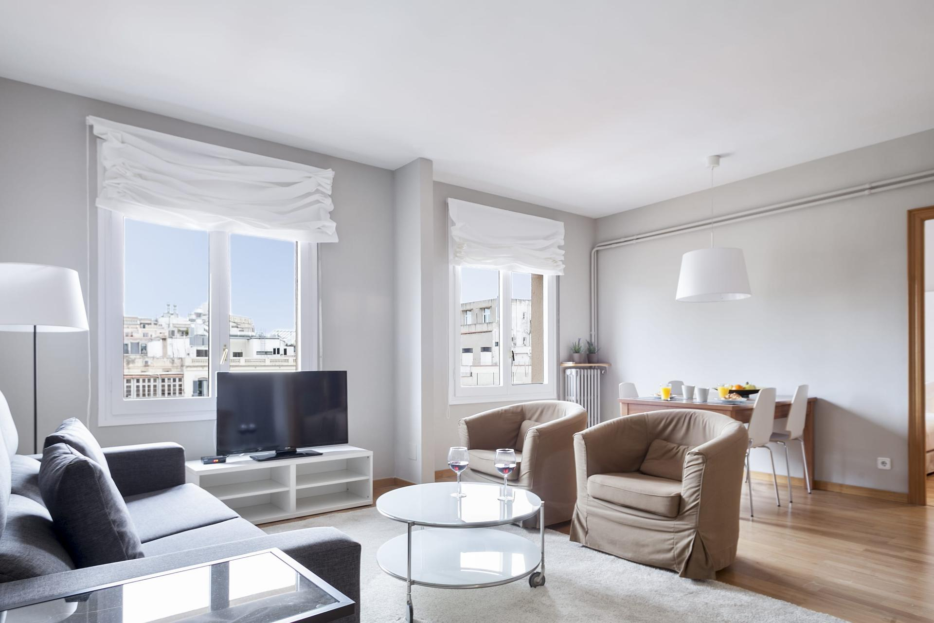 Lounge at Sunny Serviced Apartments, Eixample, Barcelona - Citybase Apartments