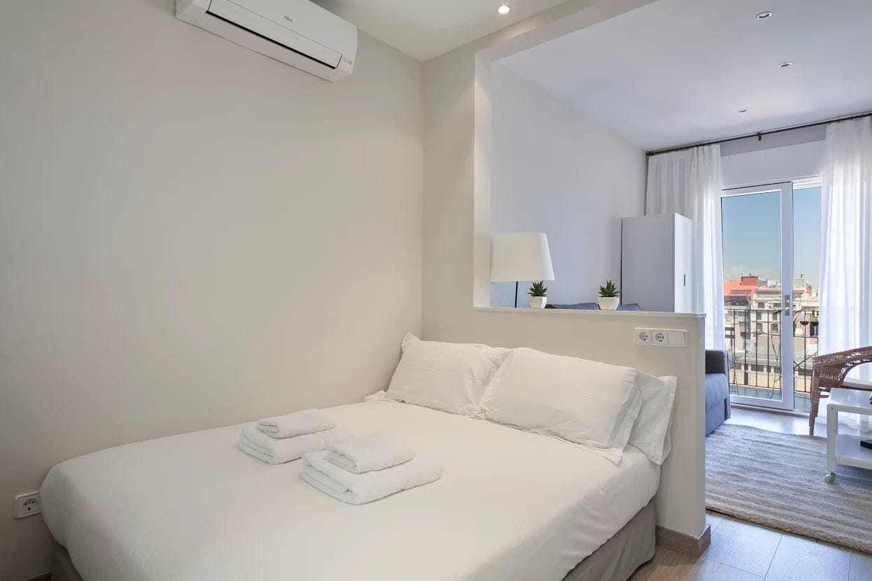 Studio at Sunny Serviced Apartments, Eixample, Barcelona - Citybase Apartments