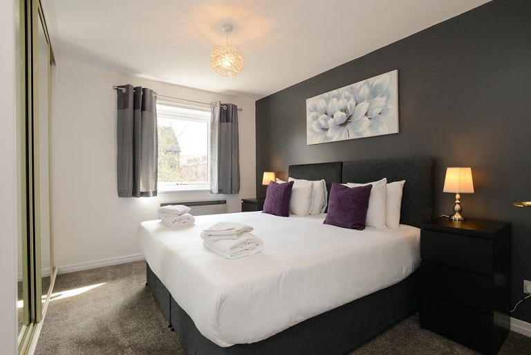 Bedroom at The Meadows Apartment, The Meadows, Nottingham - Citybase Apartments