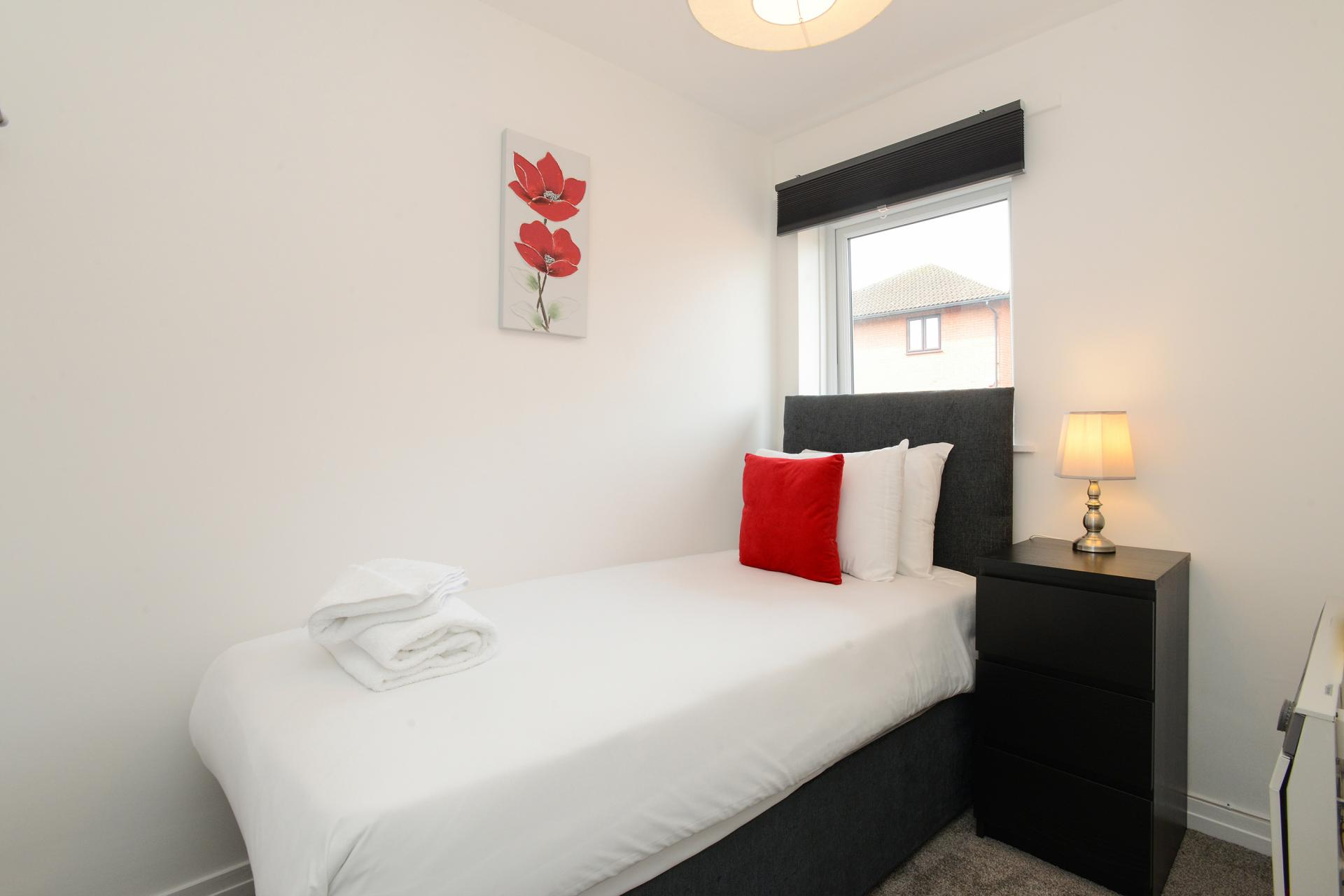 Bed at The Meadows Apartment, The Meadows, Nottingham - Citybase Apartments