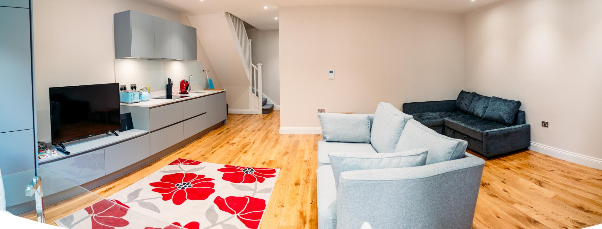 Living room at Cromwell Road Serviced Apartments - Citybase Apartments