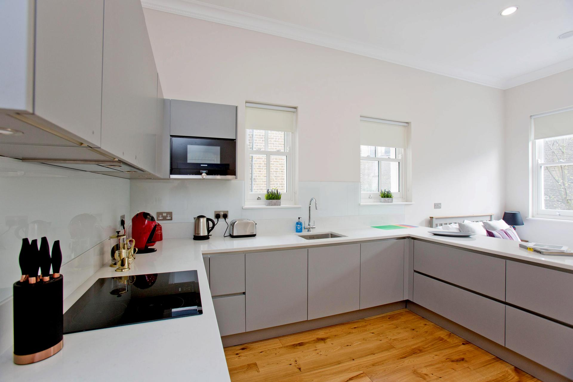 Kitchen at Cromwell Road Serviced Apartments - Citybase Apartments