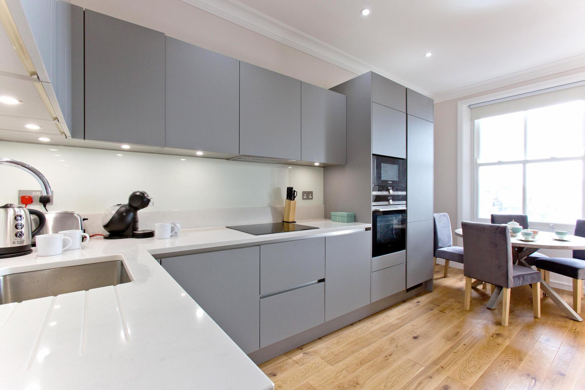 Kitchen facilities at Cromwell Road Serviced Apartments - Citybase Apartments