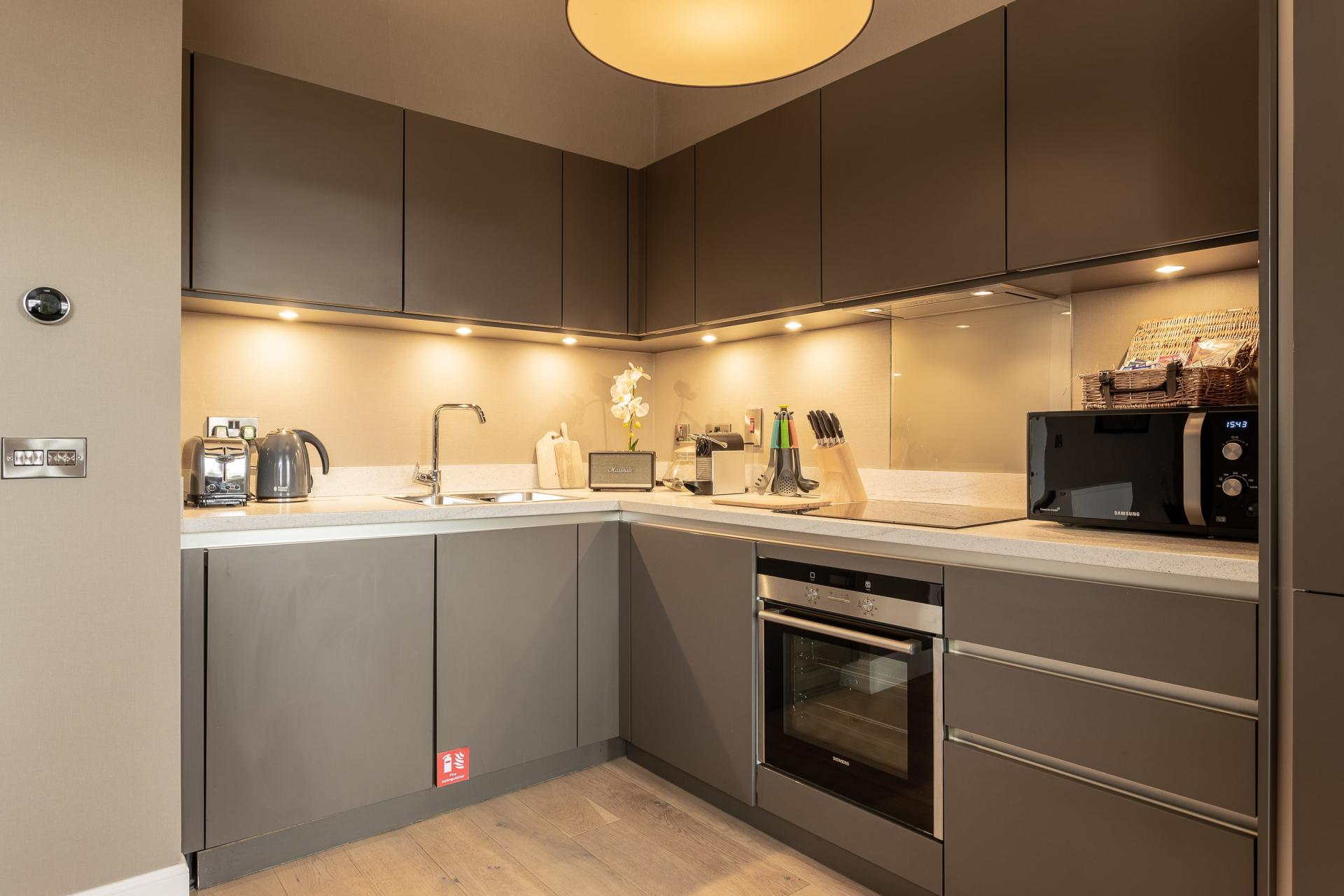 Equipped kitchen at No.1 Apartments - George IV Bridge Apartments - Citybase Apartments