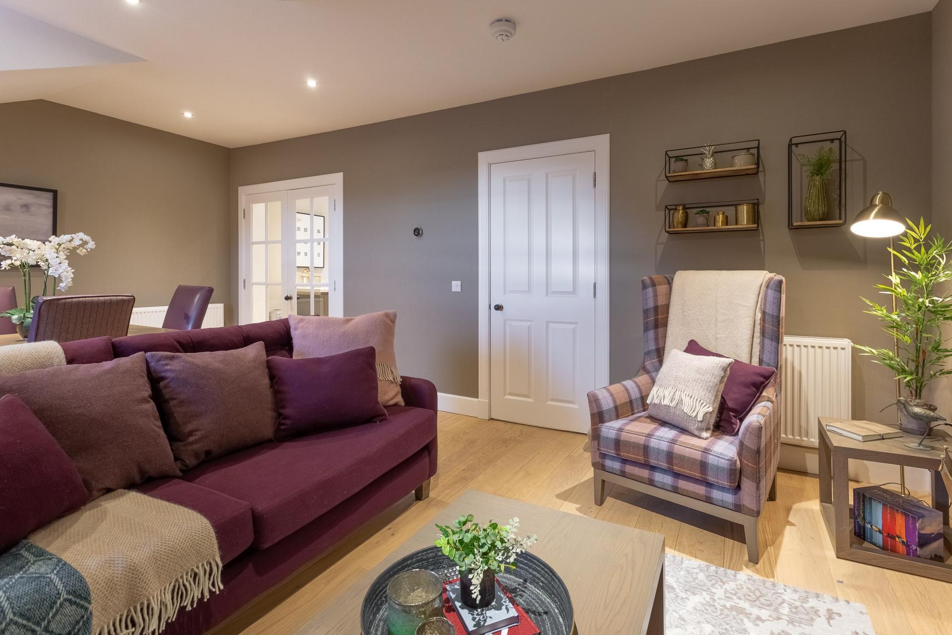 Sofa at No.1 Apartments - George IV Bridge Apartments - Citybase Apartments