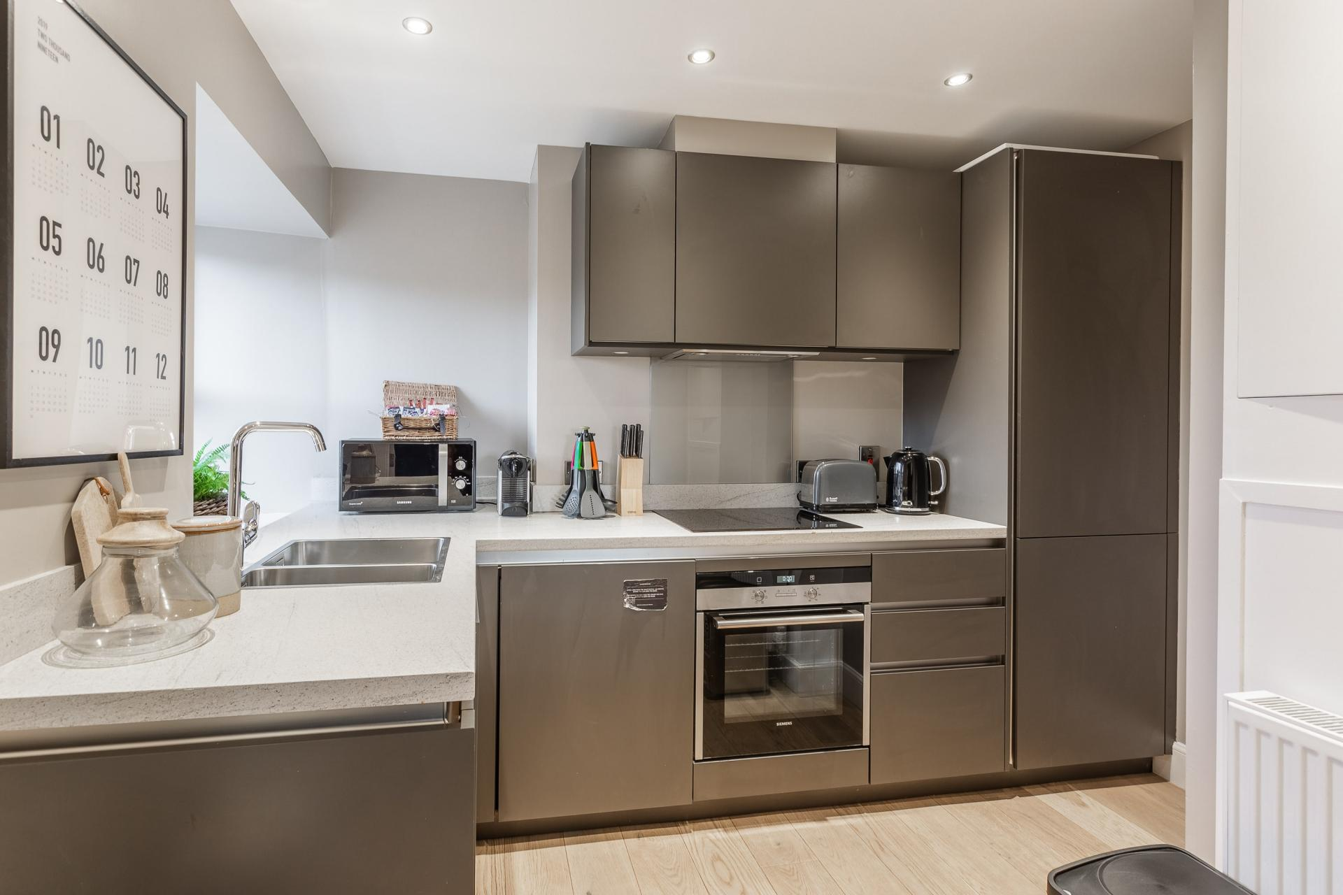 Fully equipped kitchen at No.1 Apartments - George IV Bridge Apartments - Citybase Apartments