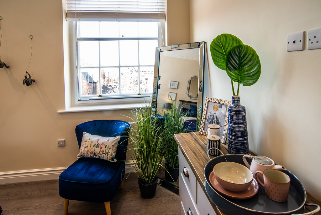 Stylish living area at Juniper Court Apartments - Citybase Apartments