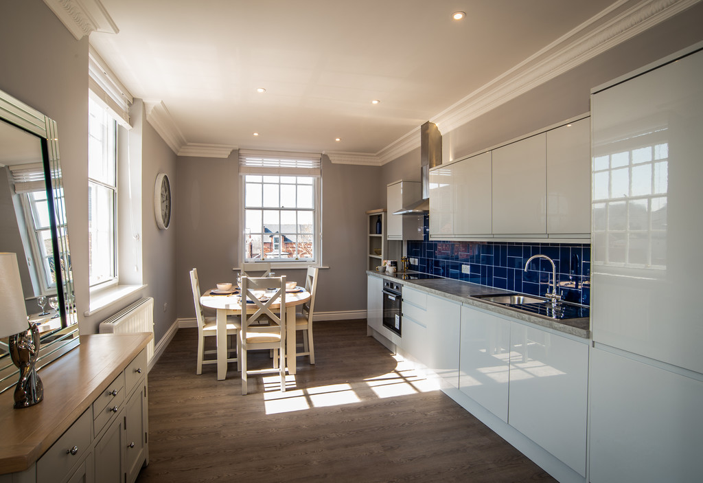 Spacious kitchen at Juniper Court Apartments - Citybase Apartments