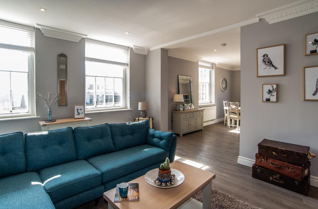 Bright living area at Juniper Court Apartments - Citybase Apartments