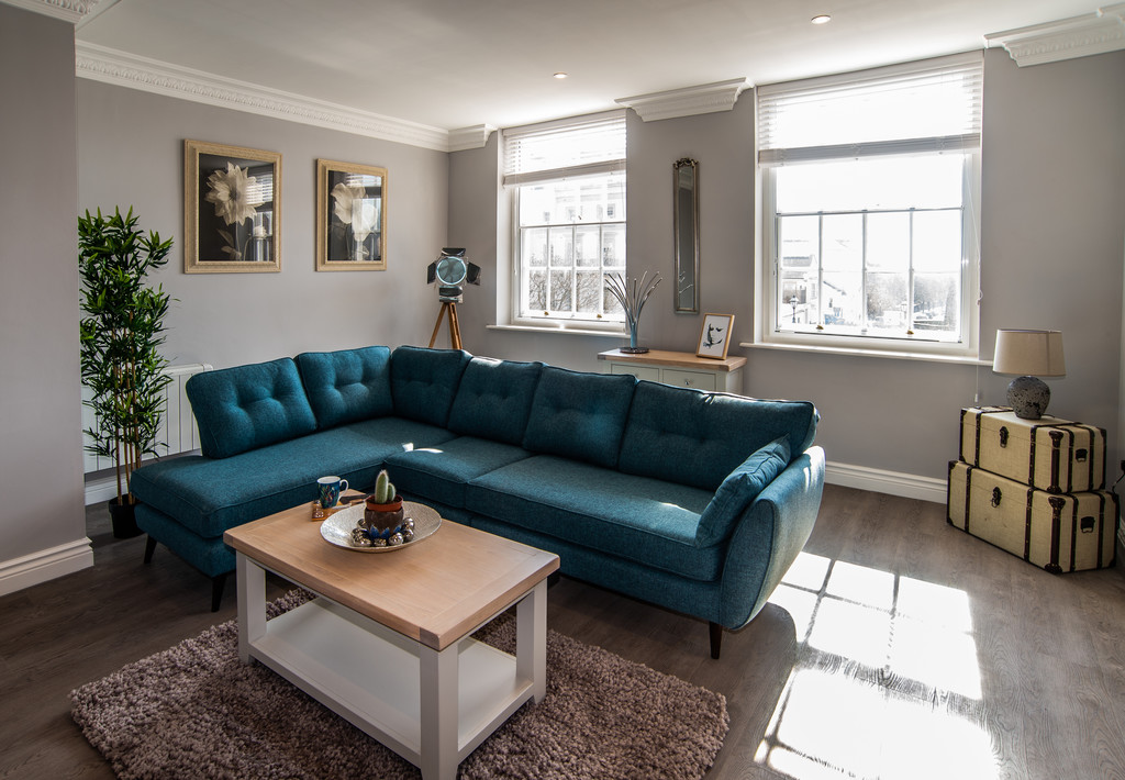 Modern living area at Juniper Court Apartments - Citybase Apartments