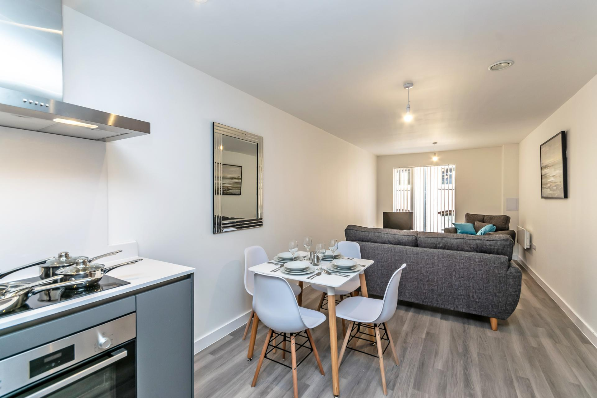 Oven at Halo House Serviced Apartments, Green Quarter, Manchester - Citybase Apartments