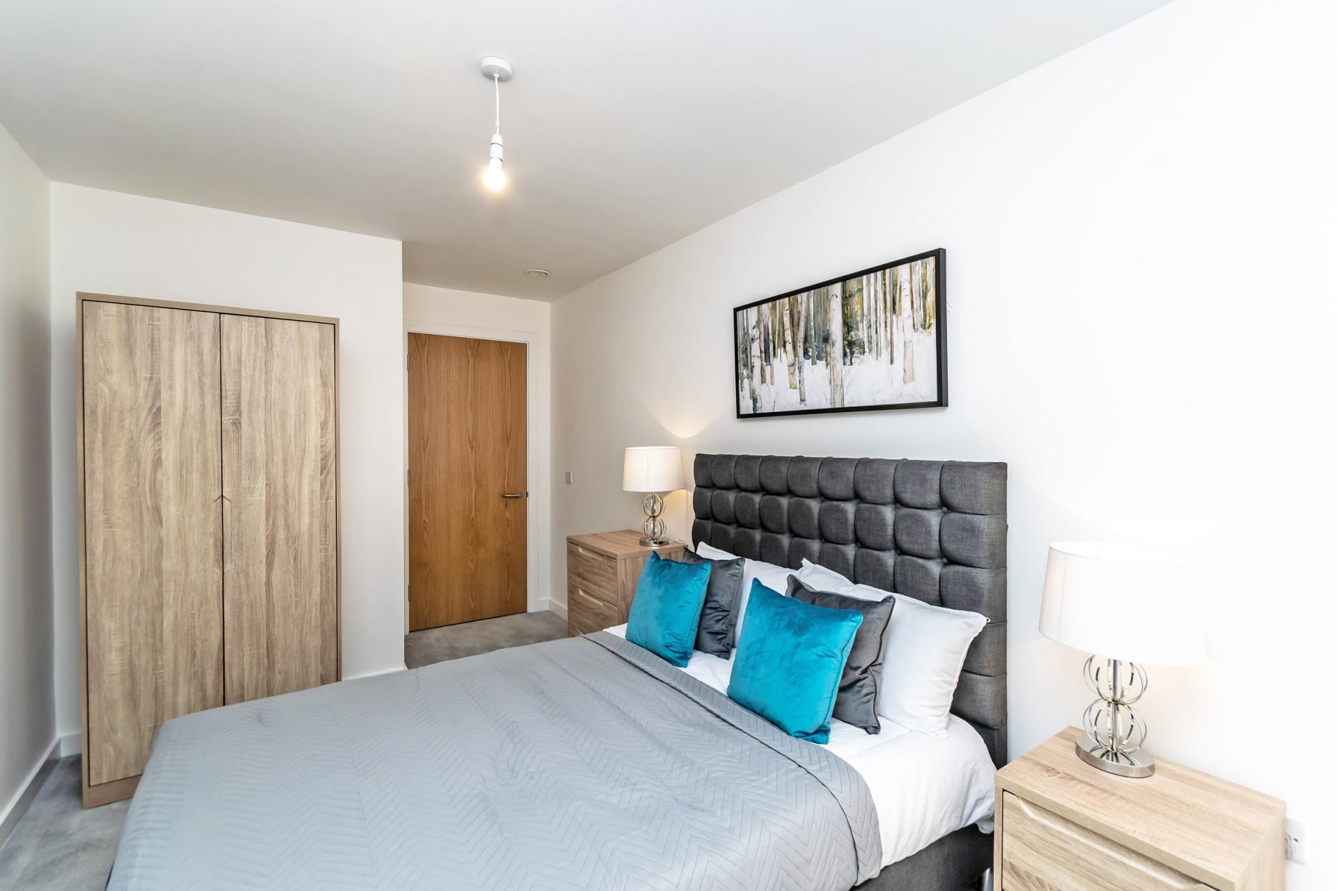 Cosy bed at Halo House Serviced Apartments, Green Quarter, Manchester - Citybase Apartments