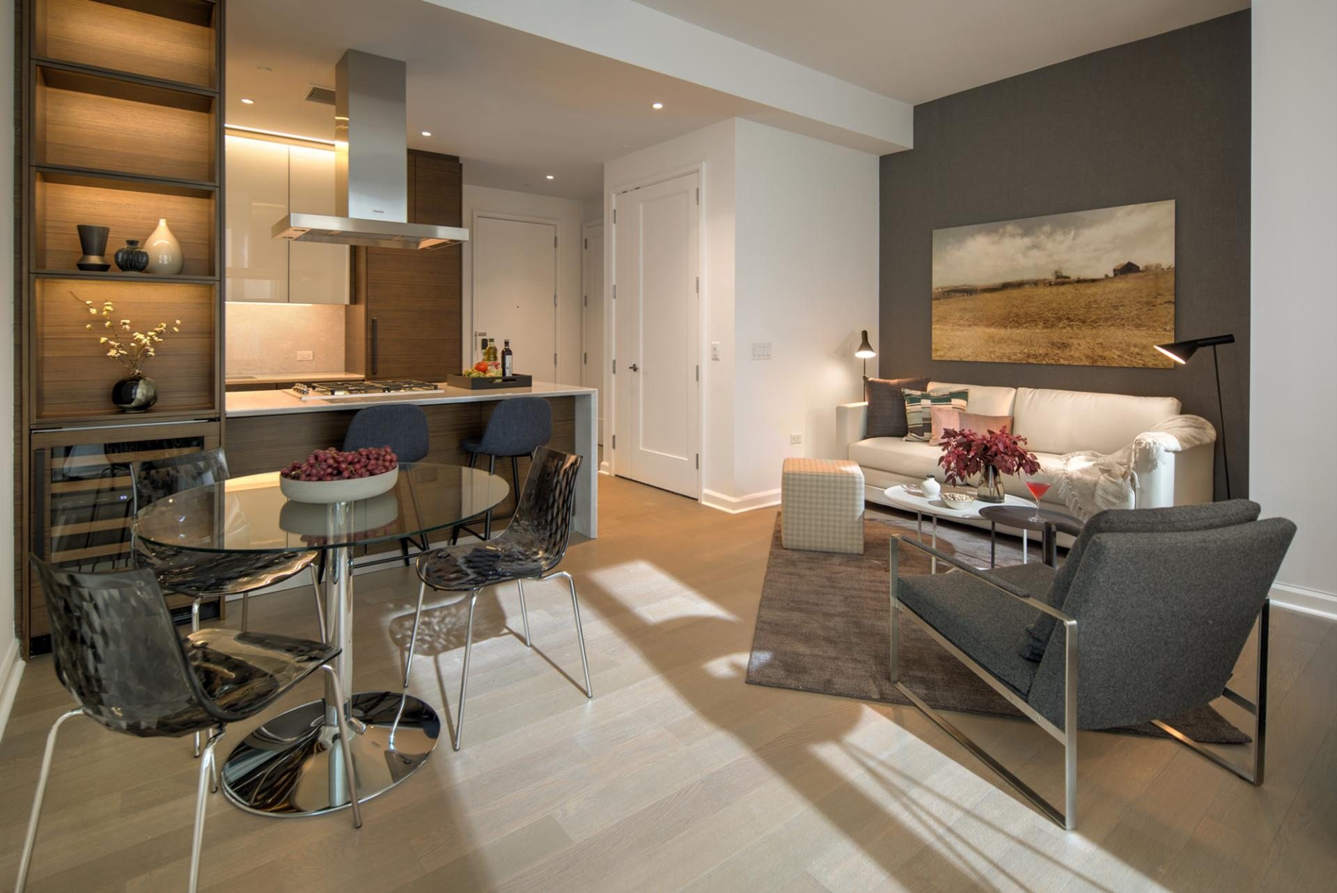 Dining area at One Hudson Yards Apartments - Citybase Apartments