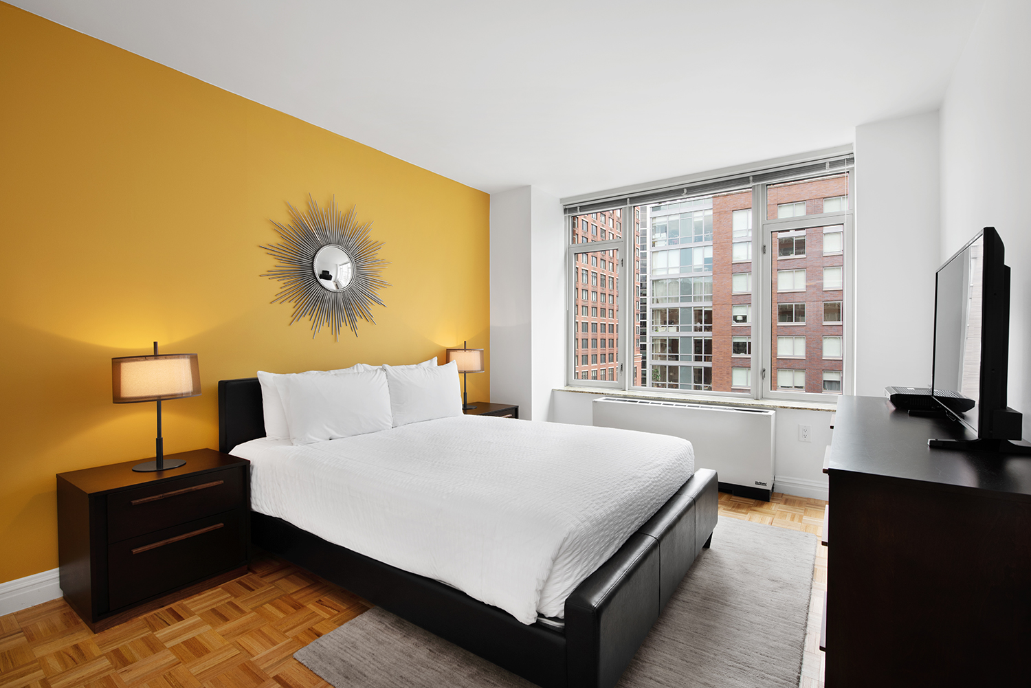 Bed at Tribeca Green Corporate Housing - Citybase Apartments