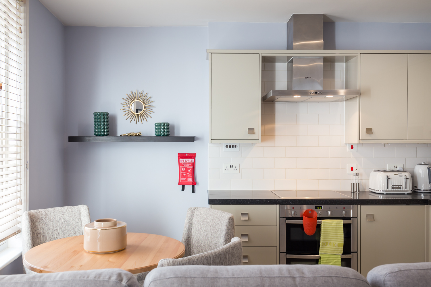 Bright kitchen at Covent Garden Serviced Apartments - Citybase Apartments