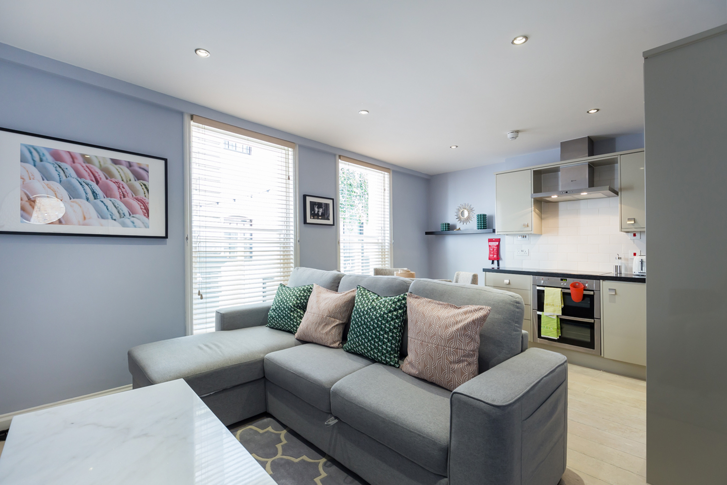 Sofa at Covent Garden Serviced Apartments - Citybase Apartments