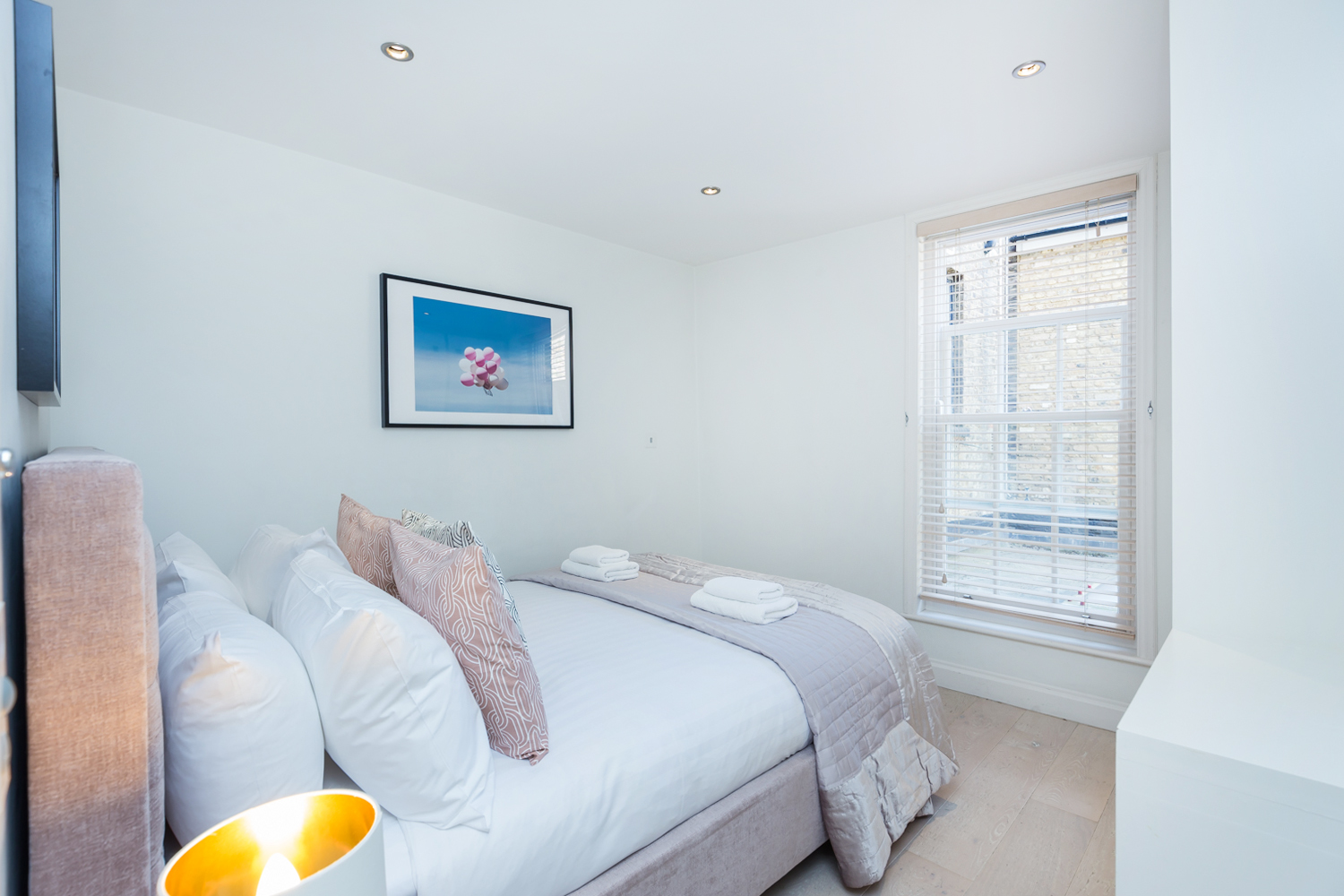 Modern bedroom at Covent Garden Serviced Apartments - Citybase Apartments