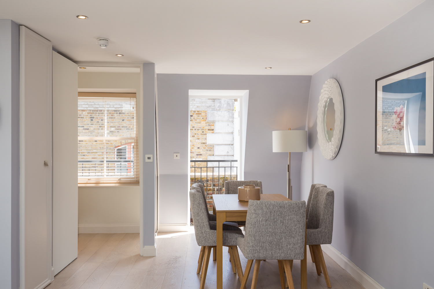 Open-plan living area at Covent Garden Serviced Apartments - Citybase Apartments