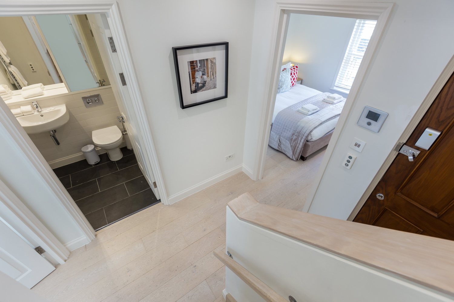 Stairs at Covent Garden Serviced Apartments - Citybase Apartments