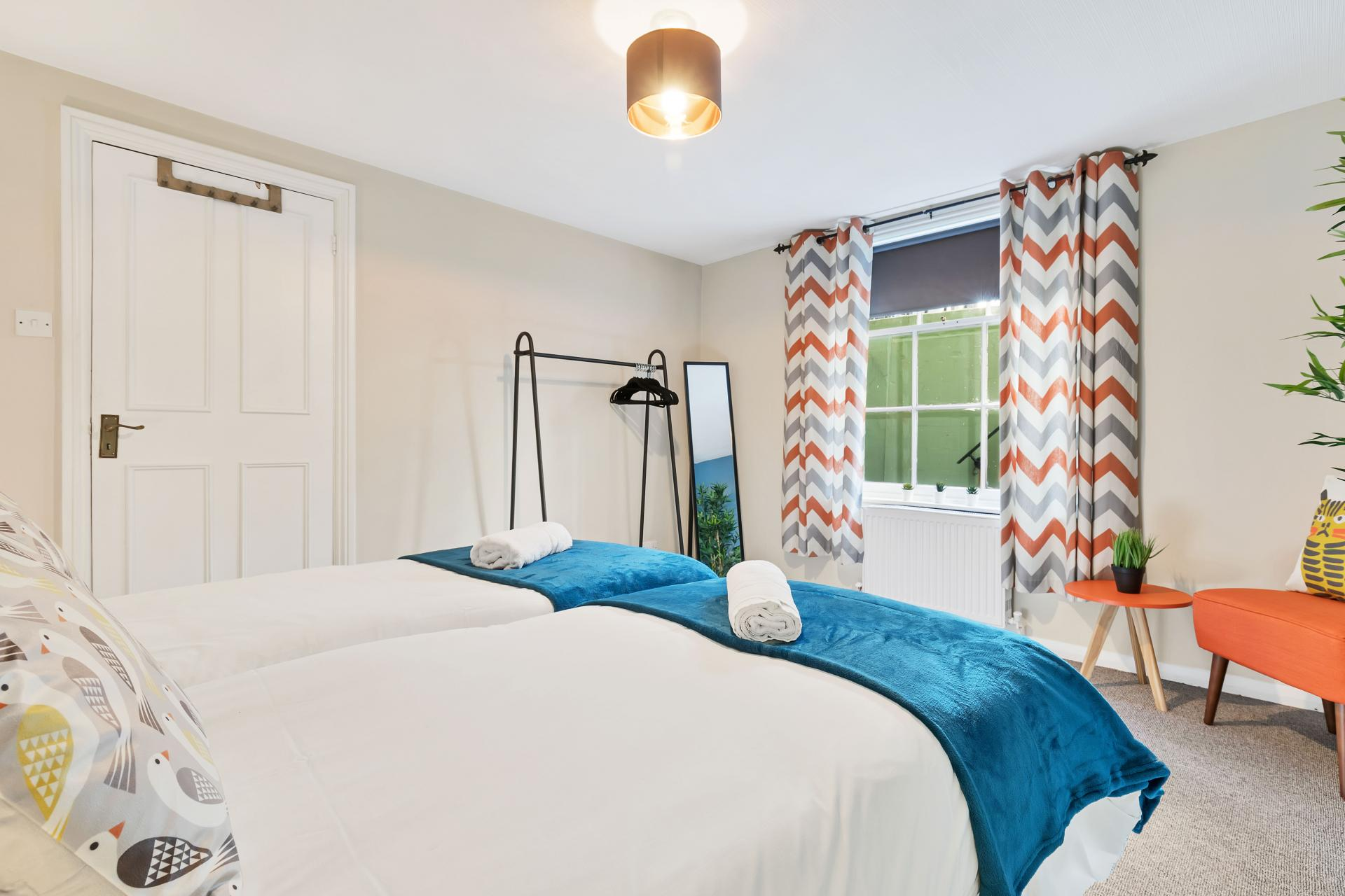 Bright bedroom at Beach Patio Apartment - Citybase Apartments