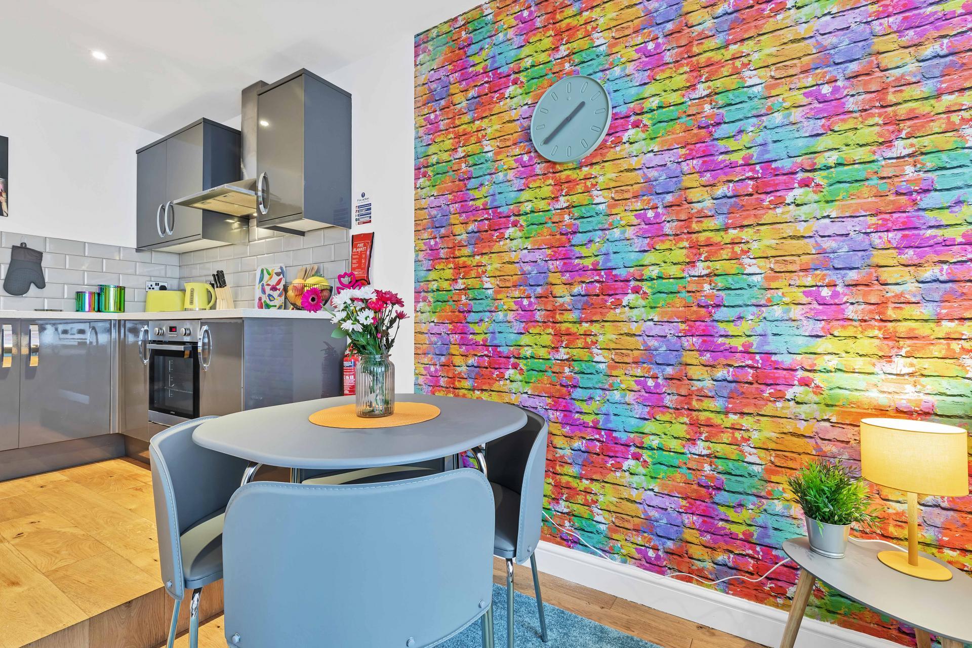 Living area at Rainbow Studio Apartment - Citybase Apartments