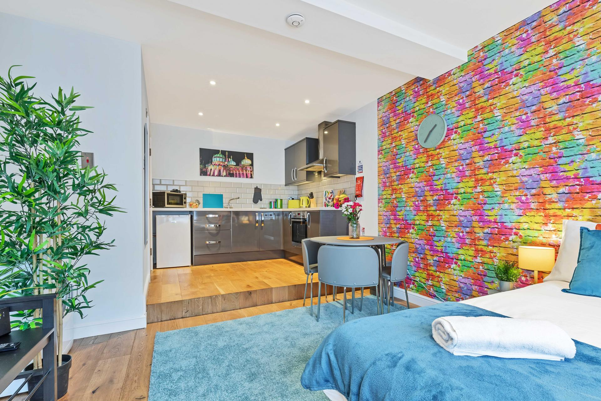 Dining area at Rainbow Studio Apartment - Citybase Apartments