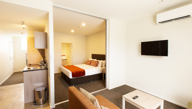 TV at Ramada Suites by Wyndham Christchurch City - Citybase Apartments