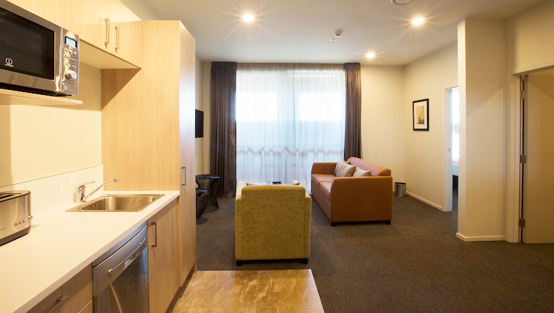Lounge at Ramada Suites by Wyndham Christchurch City - Citybase Apartments