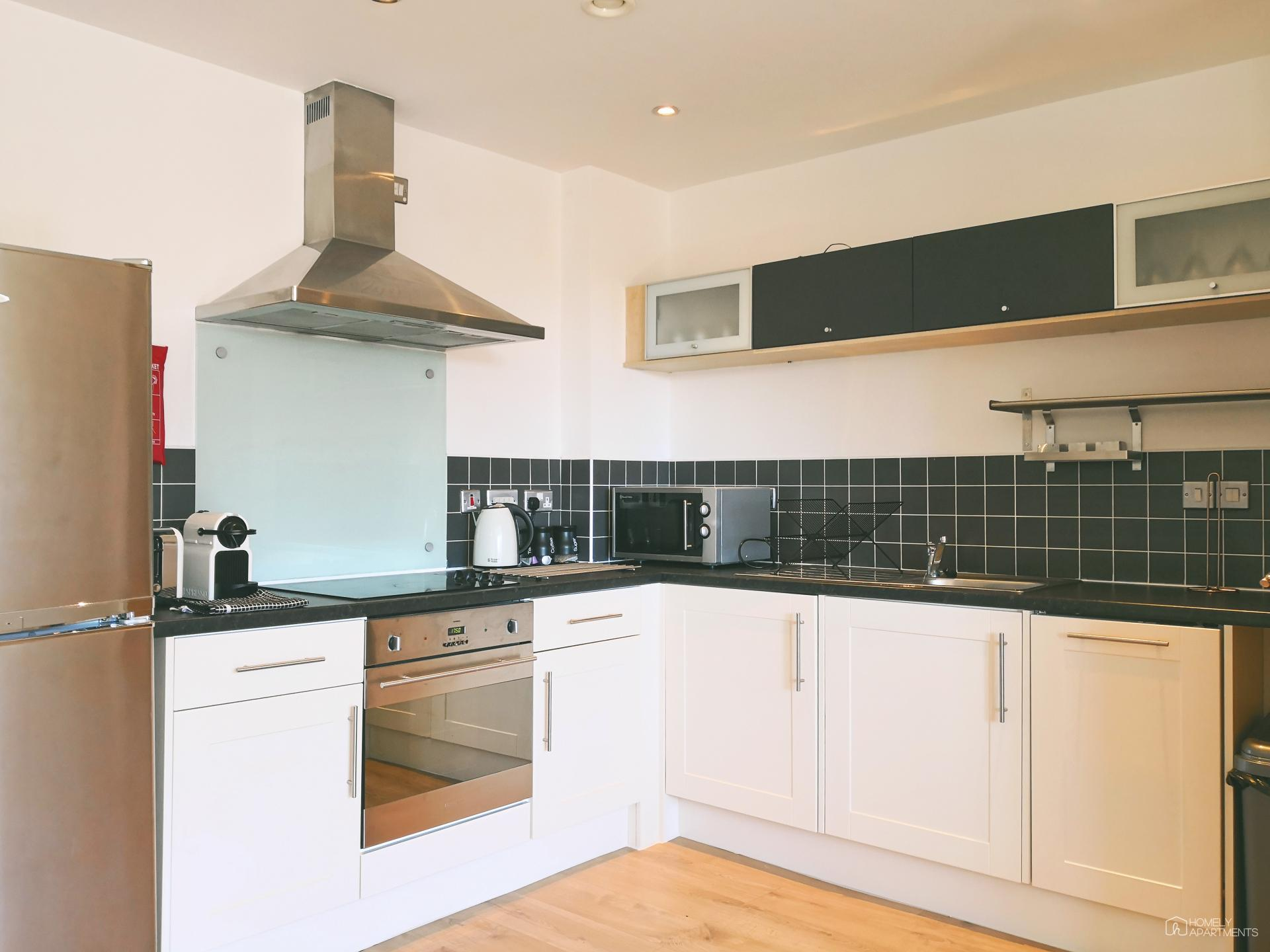 Kitchen at West One Serviced Apartments - Citybase Apartments