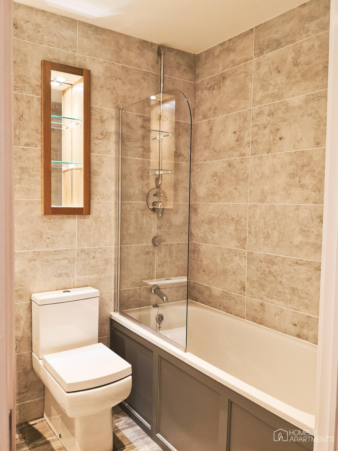 Shower at West One Serviced Apartments - Citybase Apartments