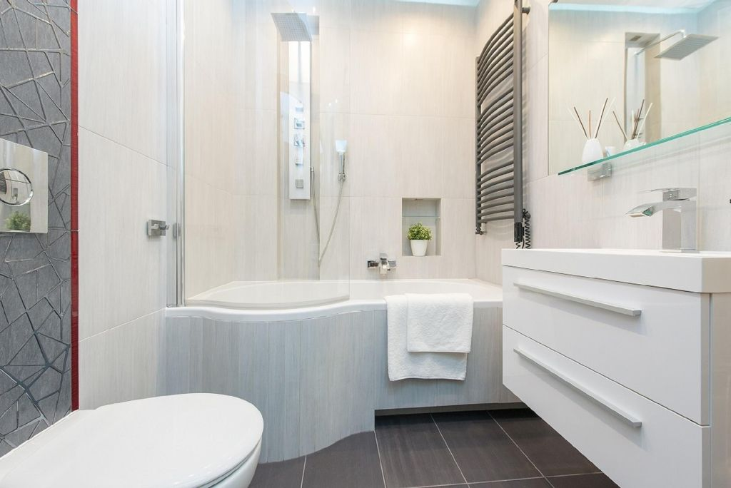 Bathroom at Old Town Square Apartments - Citybase Apartments