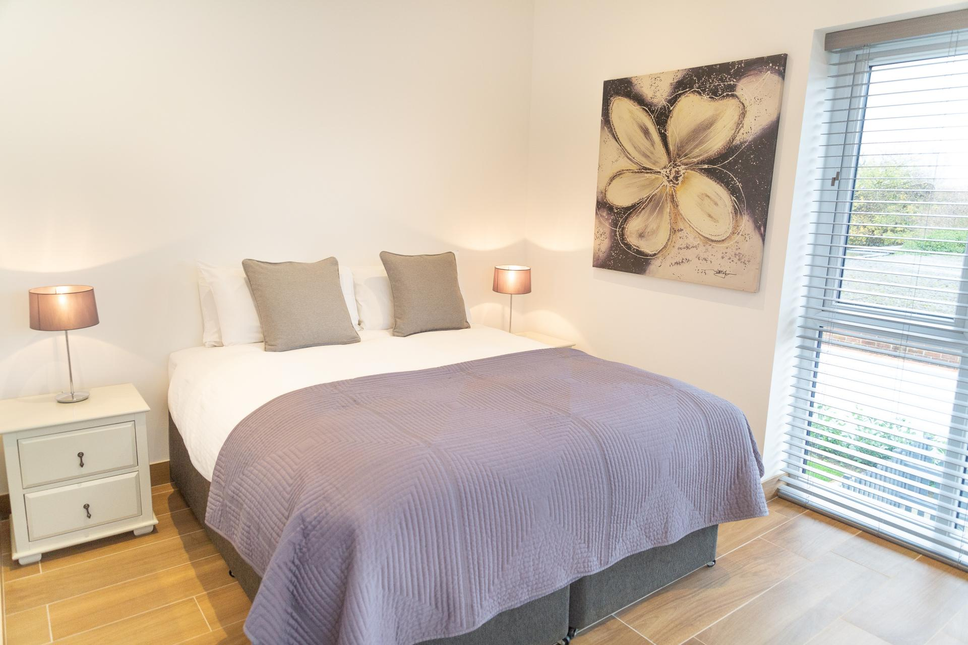 Light bedroom at Franklin House Apartments, King's Hedges, Cambridge - Citybase Apartments