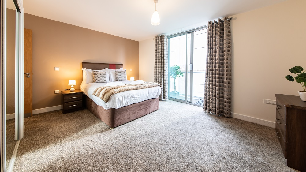 Bedroom at The Spires Birmingham - Citybase Apartments