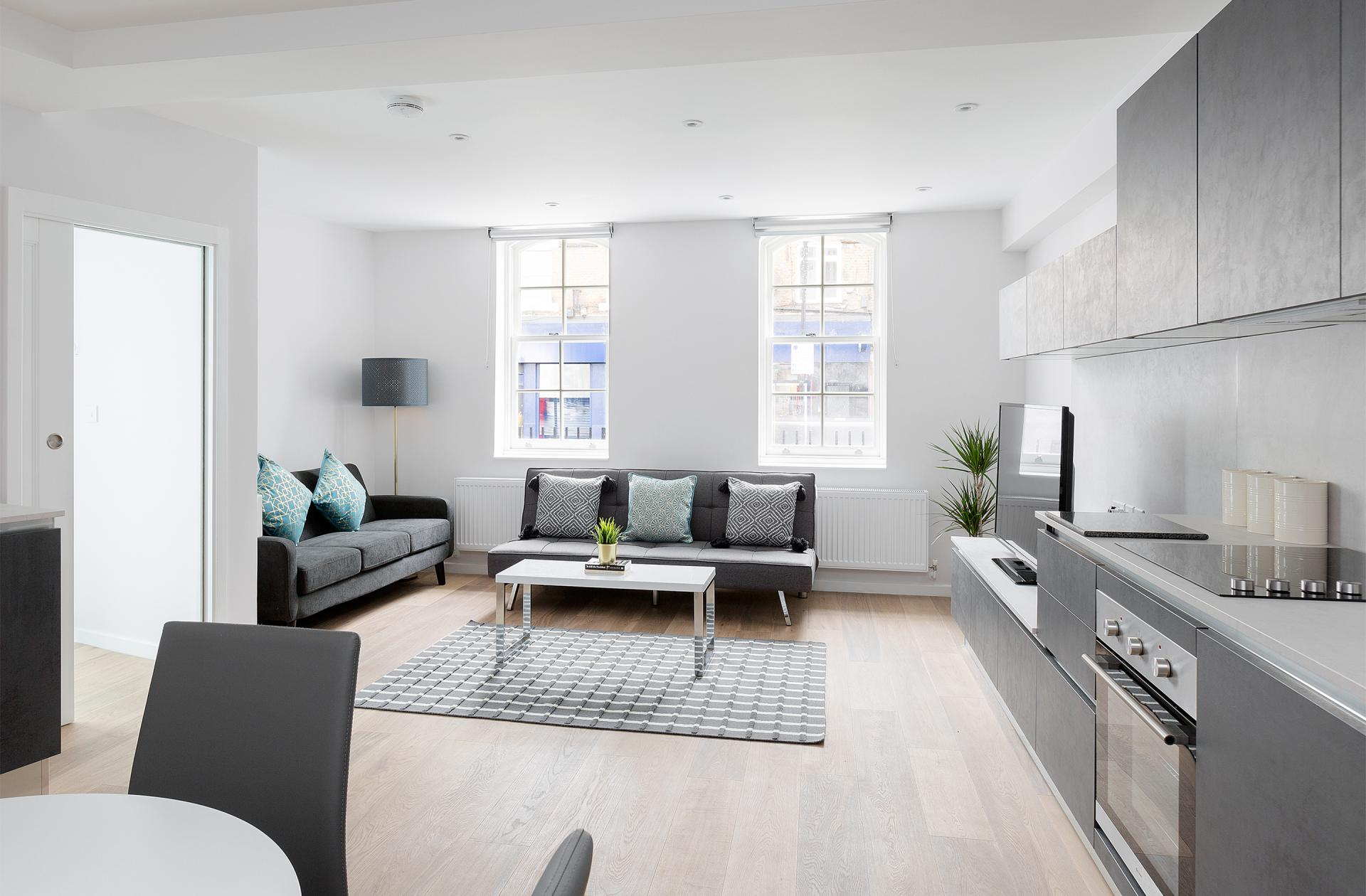 Living room at Heart of Camden Apartments - Citybase Apartments