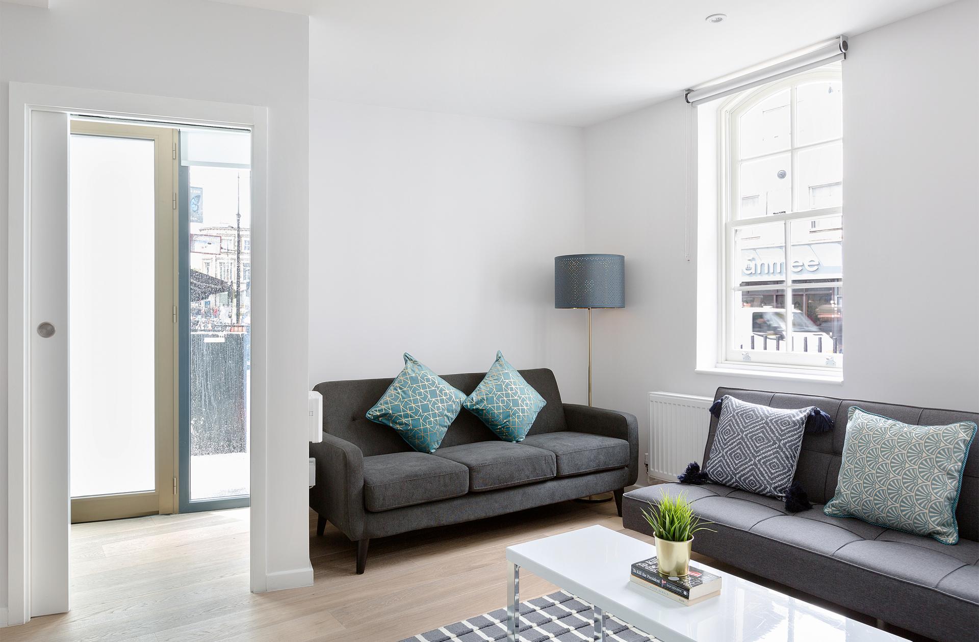 Sofa at Heart of Camden Apartments - Citybase Apartments