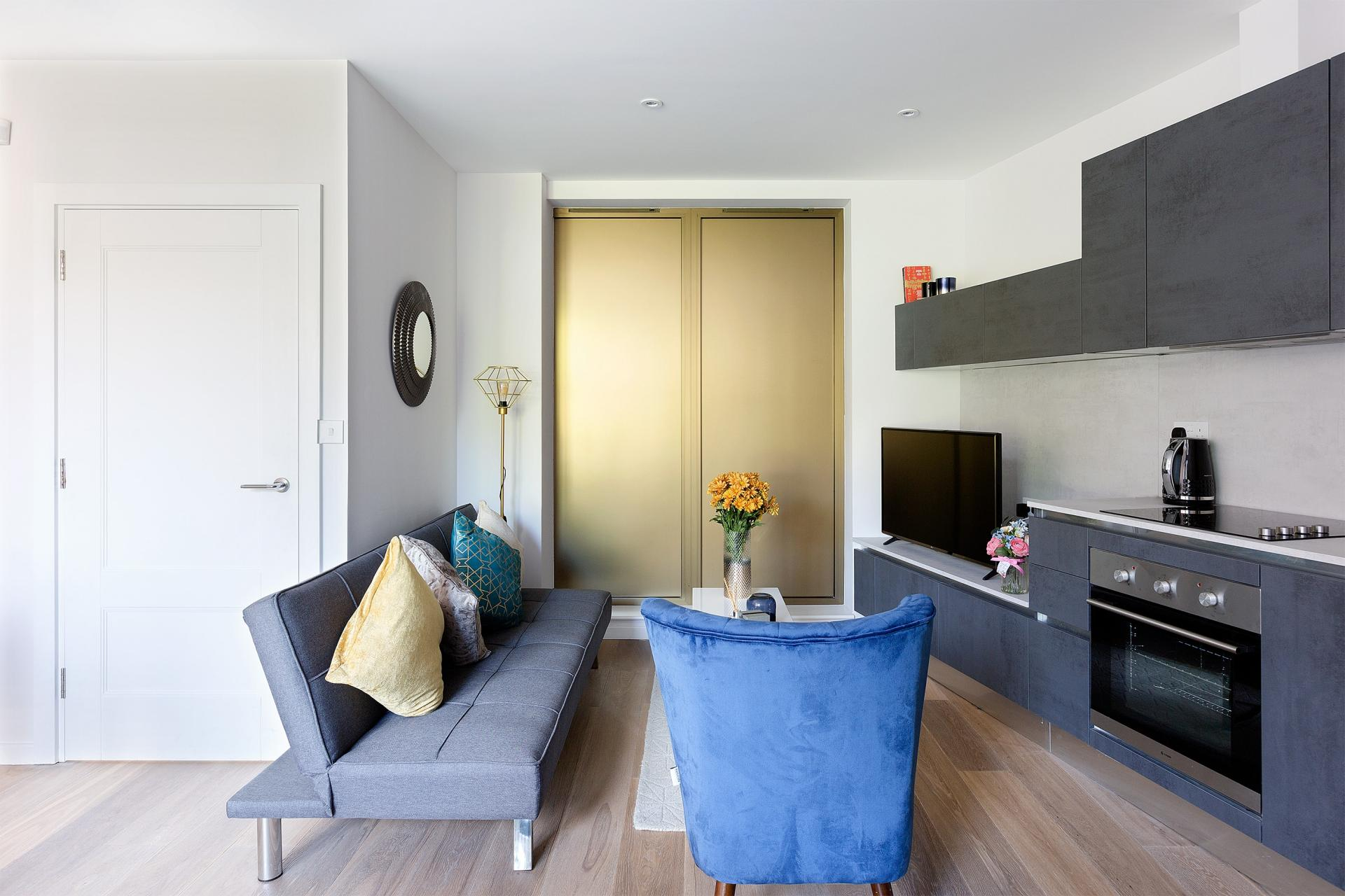 Stylish lounge at Heart of Camden Apartments - Citybase Apartments