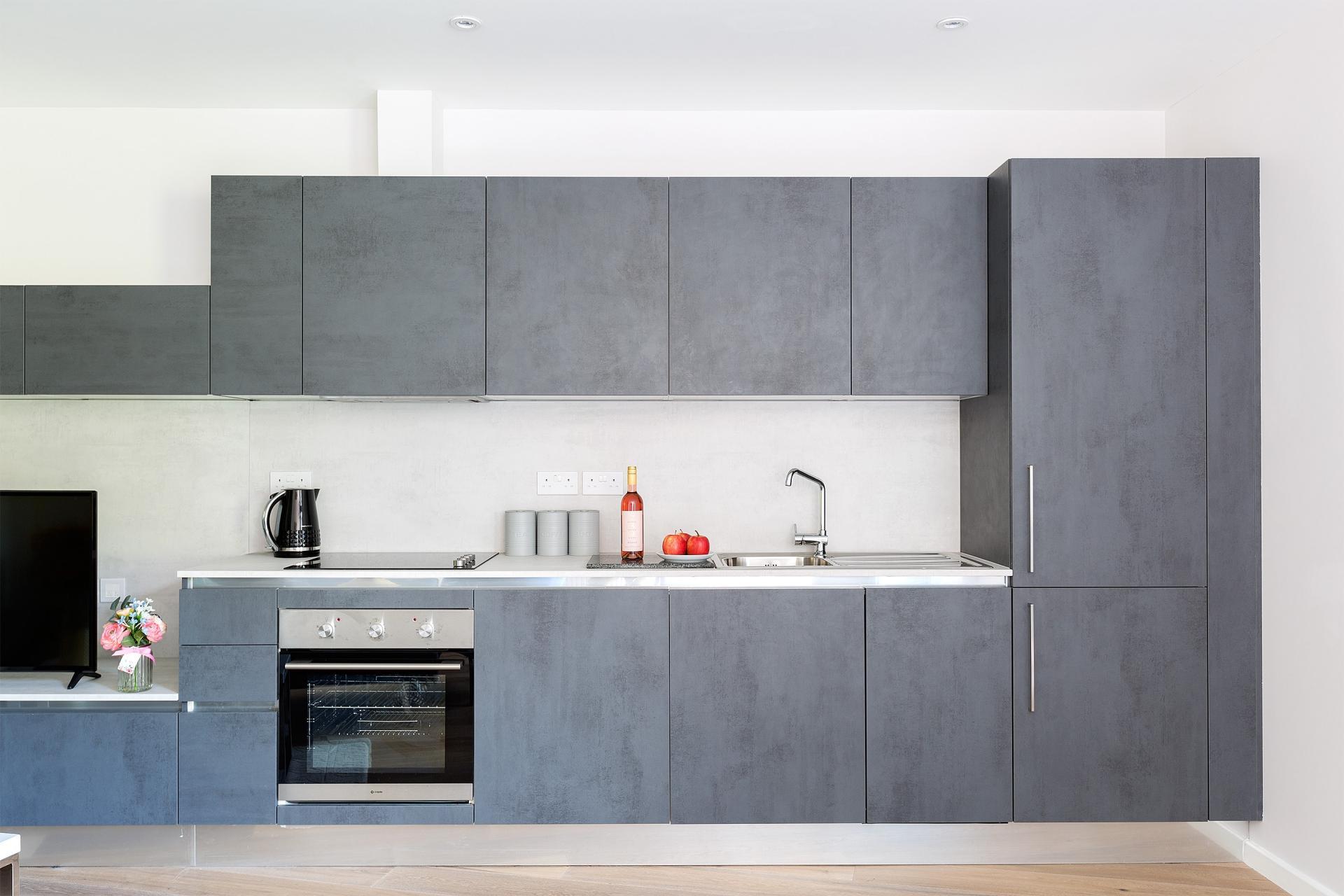 Modern kitchen at Heart of Camden Apartments - Citybase Apartments
