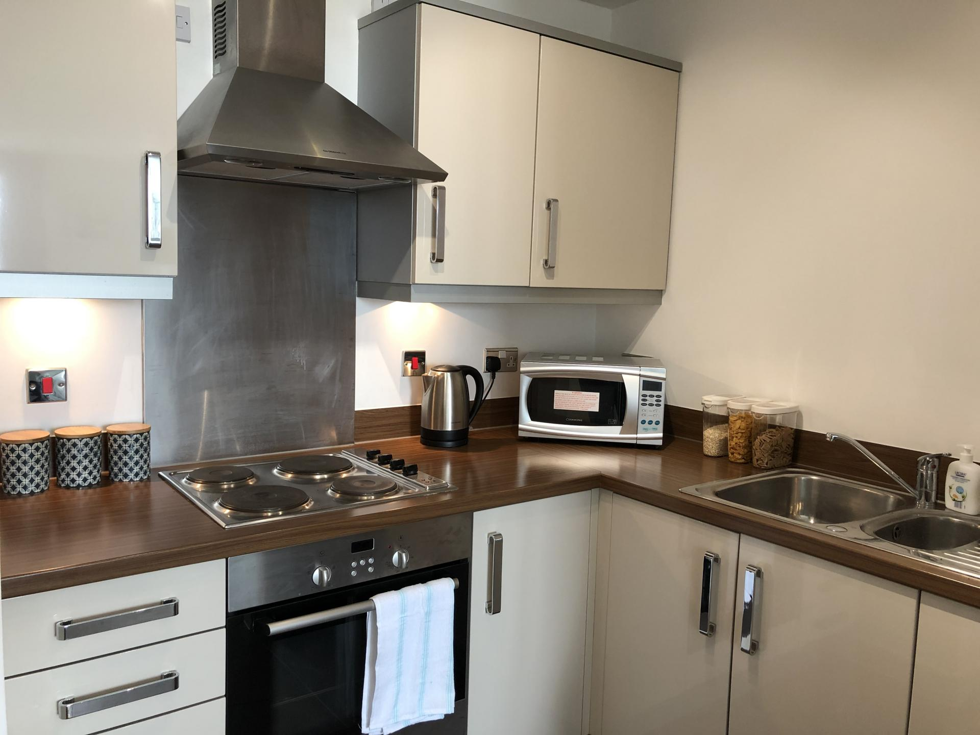 Kitchen at The Hub Serviced Apartments - Citybase Apartments