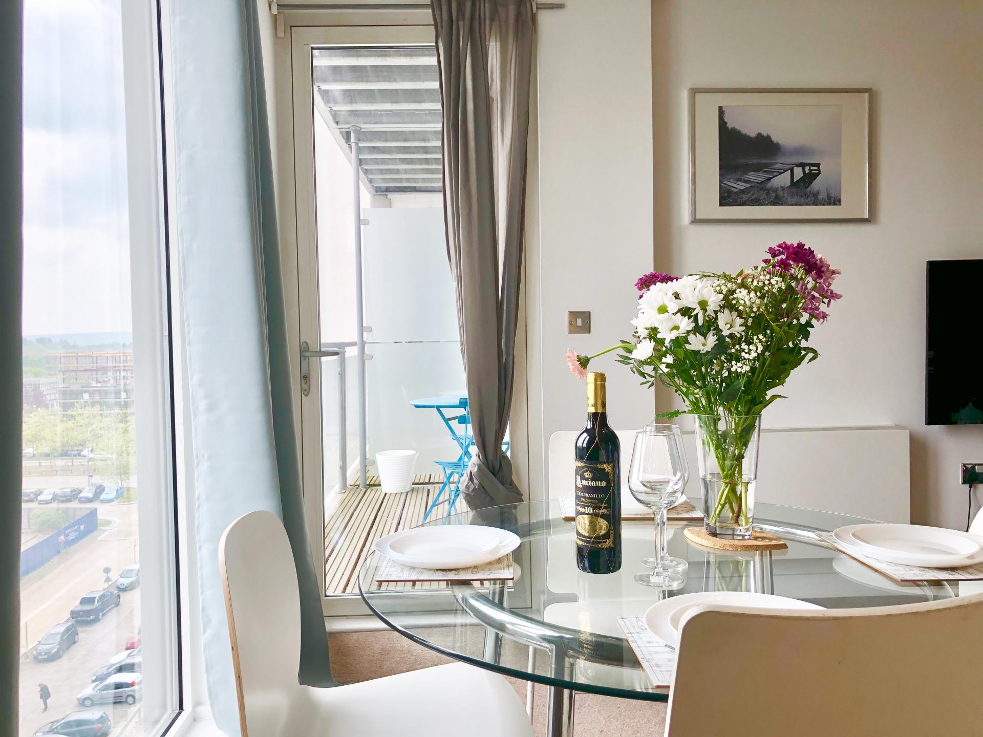 Dining table at The Hub Serviced Apartments - Citybase Apartments