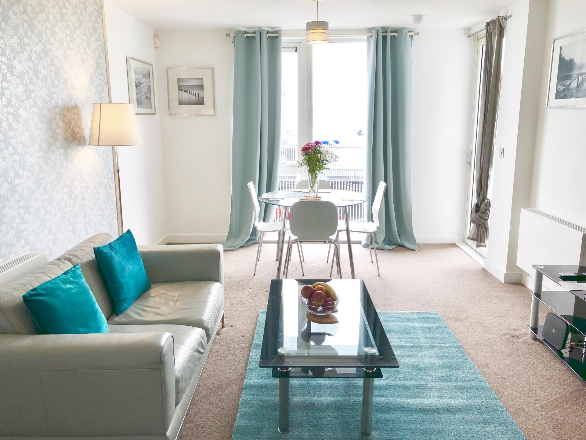 Living room at The Hub Serviced Apartments - Citybase Apartments