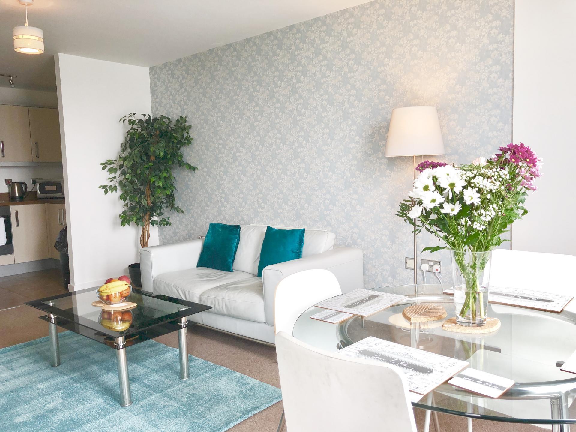 Sofa at The Hub Serviced Apartments - Citybase Apartments