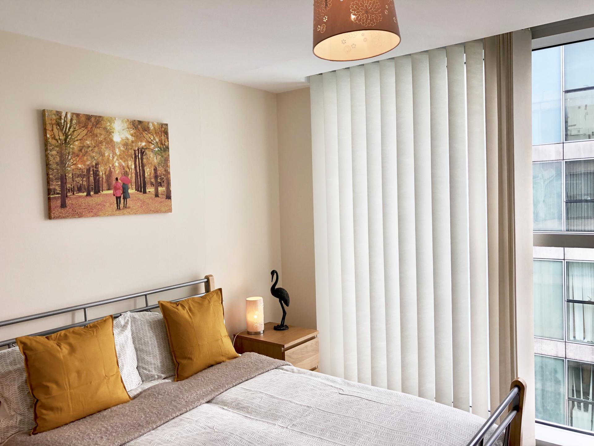 Bright bedroom at The Hub Serviced Apartments - Citybase Apartments