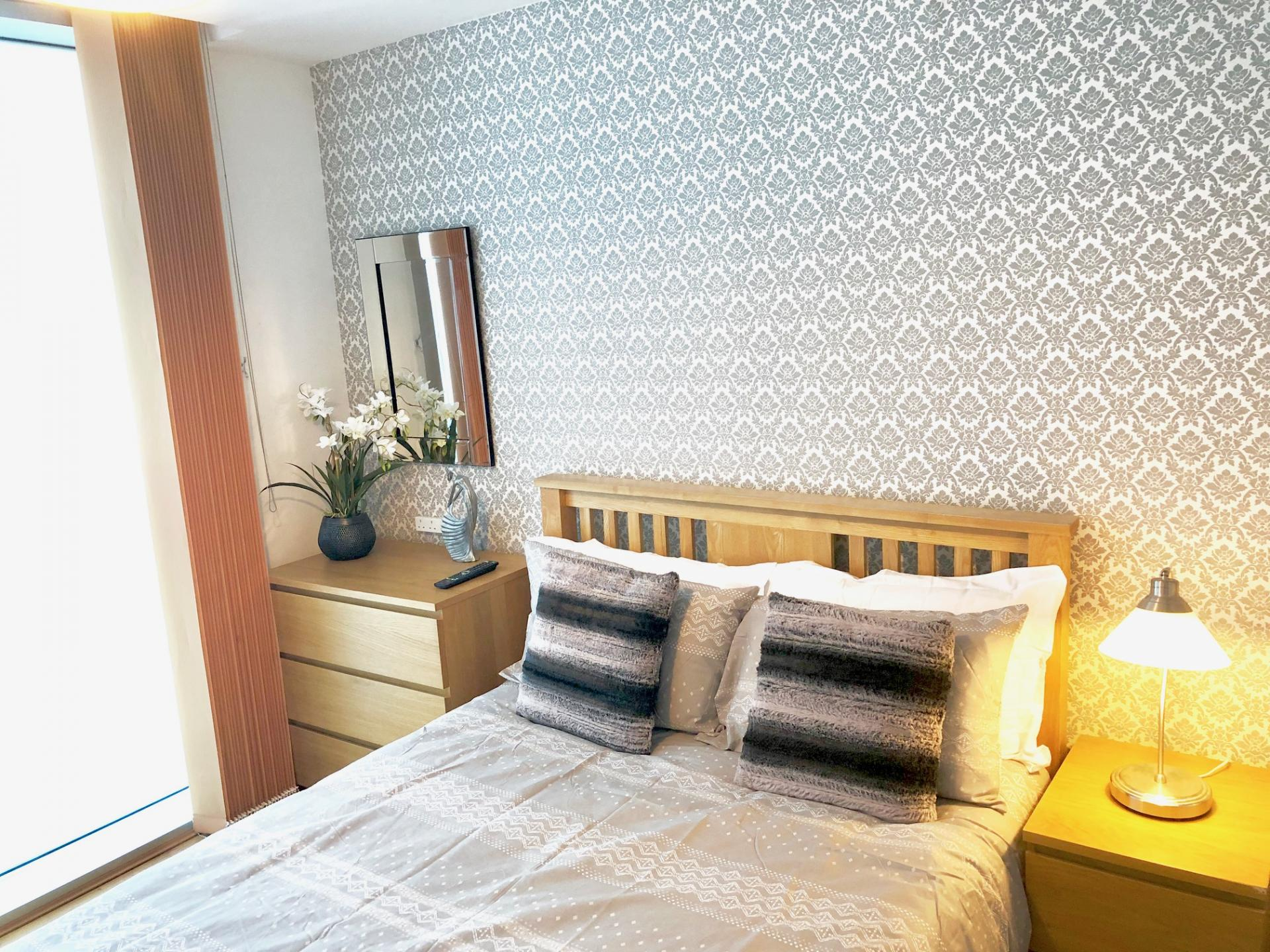 Comfortable bed at The Hub Serviced Apartments - Citybase Apartments