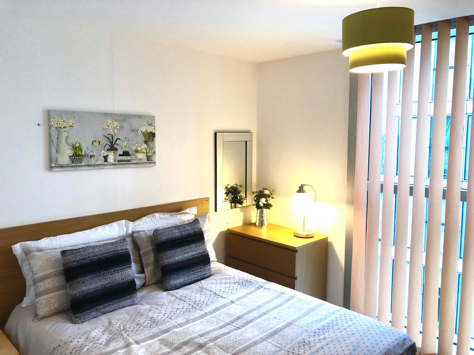 Comfortable bedroom at The Hub Serviced Apartments - Citybase Apartments