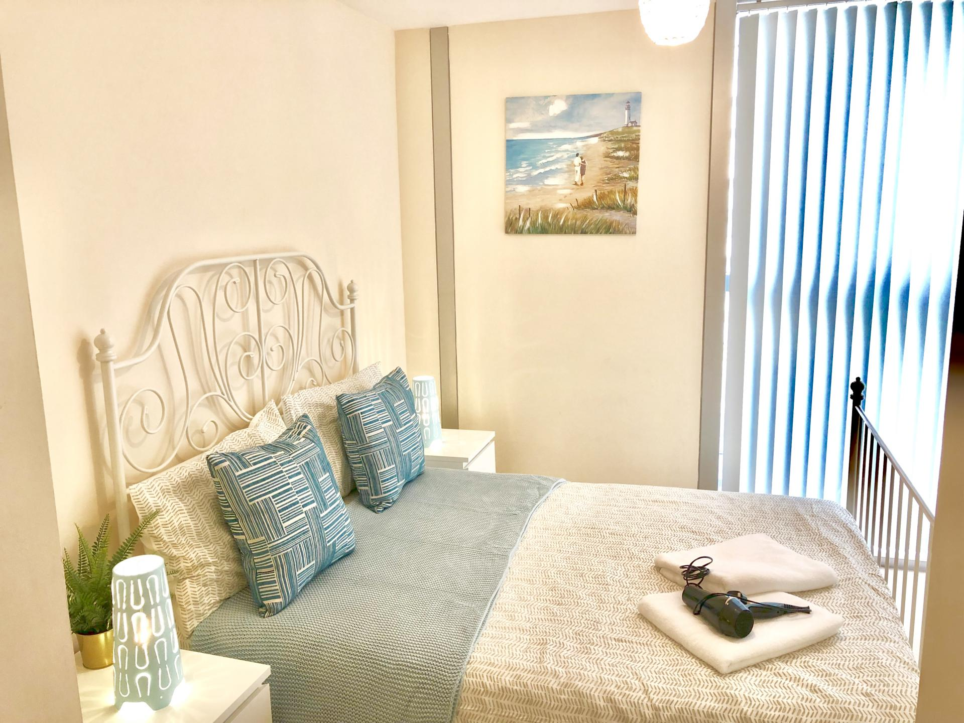 Double bed at The Hub Serviced Apartments - Citybase Apartments