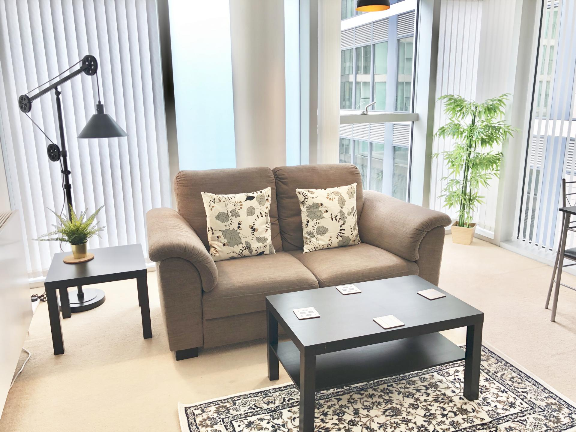 Coffee table at The Hub Serviced Apartments - Citybase Apartments