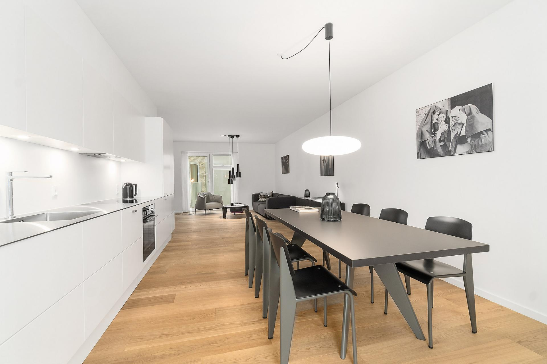 Dining area at Bryggen Apartments - Citybase Apartments
