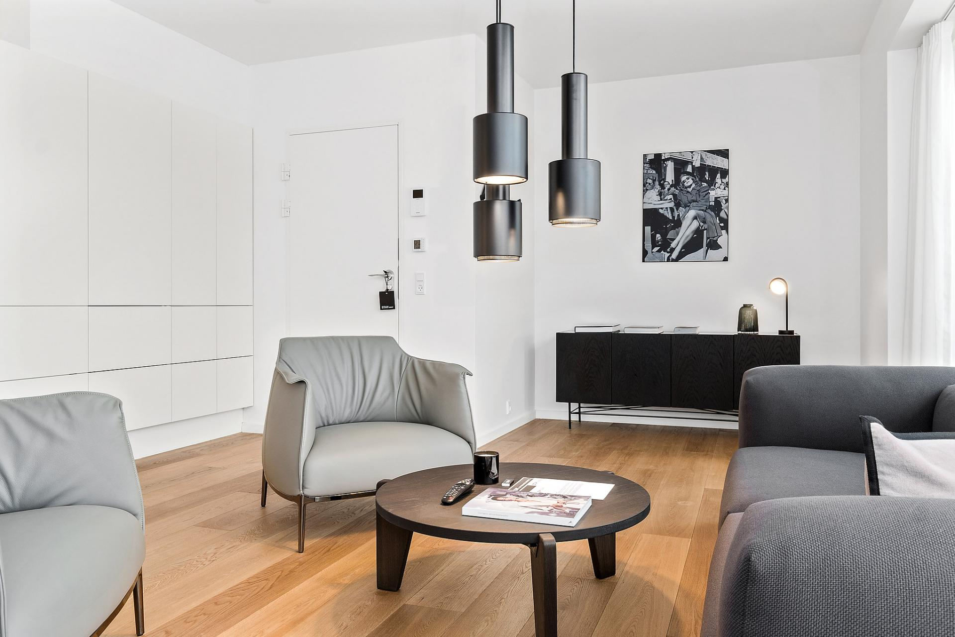 Living room at Bryggen Apartments - Citybase Apartments